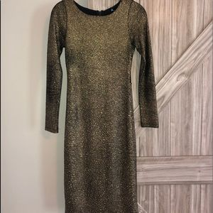 Alice and Olivia Sexy, gold cocktail dress